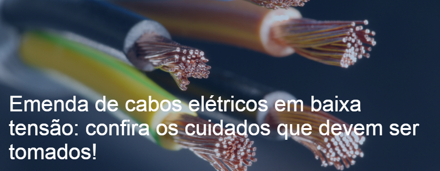 Emenda de cabo elétrico